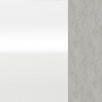 МДФ белый блеск + Белый блеск + Серебряный бетон